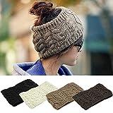Women Ski Cap Head Band Winter Warm Cap Knitted Hair Band 5 Colors
