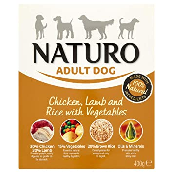 Naturo Comida Húmeda para Perros Pollo con Cordero y arroz: Amazon.es: Productos para mascotas