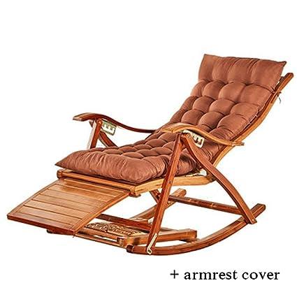 Amazon.com: Silla reclinable plegable de bambú para verano ...