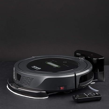 H.Koenig SWRC90 Robot Aspirador WaterMOP+, Aspira, Barre y Friega, Muro Virtual, Autonomía 90 Mins, Filtro HEPA, Tecnología silenciosa, Tanque de agua 180 Ml, 5 Ciclos Programables y Control remoto: Amazon.es: Hogar