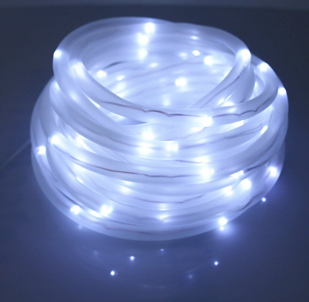 Amazon julyfire white 50 led 165 foot solar powered rope amazon julyfire white 50 led 165 foot solar powered rope string garden light for indooroutdoor rope solar christmas light garden outdoor workwithnaturefo
