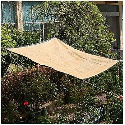 GuoWei Beige 80% Protector Solar Velas de Sombra Malla Neto con Ojales para Jardín Al Aire Libre Cubrir Utilizar (Size : 4x5m): Amazon.es: Jardín