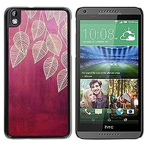 YOYOYO Smartphone Protección Defender Duro Negro Funda Imagen Diseño Carcasa Tapa Case Skin Cover Para HTC DESIRE 816 - hojas de hoja de ciruela marrón naturaleza roja