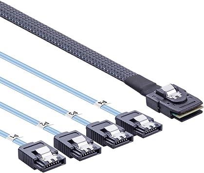 3ft Mini-SAS 26-Pin SFF-8088 to Mini-SAS 36-Pin SFF-8644 External Cable