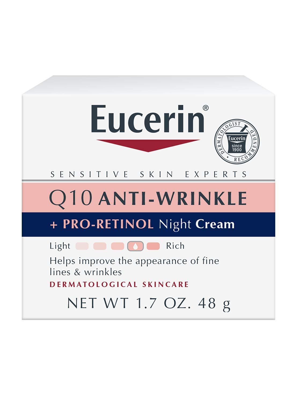 Eucerin Q10 Anti Wrinkle Day Face Cream + Night Cream   1.7 oz (2 pack): Beauty