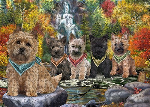 Scenic Waterfall Cairn Terriers Dog Puzzle with Photo Tin PUZL52857 (1000 pc. 20