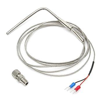 2m EGT Sensor Probe Car Exhaust Gas Temperature Temp Sensor Car Exhaust Sensor