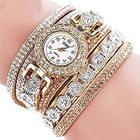 Fashion Womens Stainless Steel Bling Rhinestone Bracelet Wrist Watch Gift New ERAWAN sakcharn (Champagne)