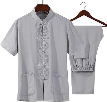FHKL Ropa Tradicional Traje Tang - Artes Marciales Tangzhuang Kung Fu Trajes Traje Uniforme De Camisa: Amazon.es: Deportes y aire libre