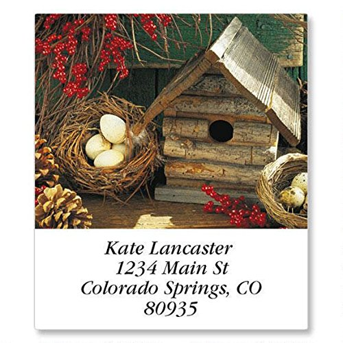(Blossoms and Birdhouses Self-Adhesive, Flat-Sheet Select Address Labels (12 Designs))