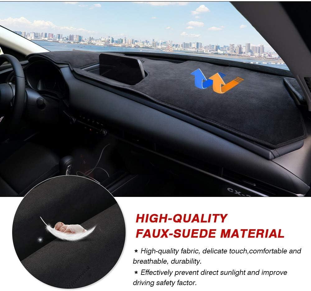Autorder Dashboard Mat Cover for Mazda CX-30/2019 2020 2021 Dash Cover Nonslip Dashboard Mat Protector Sunshade No Glare