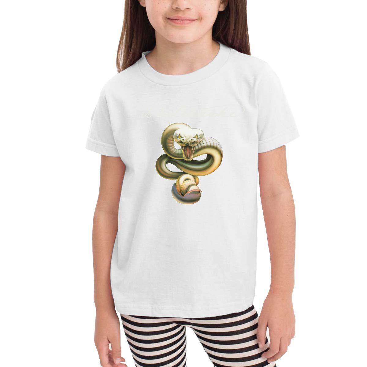 SuperLee Childrens Whitesnake Cute Short Sleeve Tshirt Black