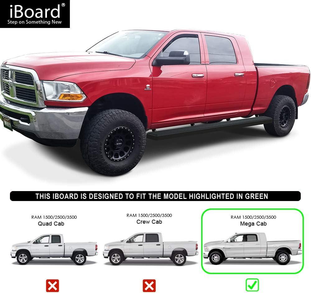 """Premium 5/"""" Black iBoard Side Steps Fit 10-19 Dodge Ram 2500//3500 Mega Cab"""