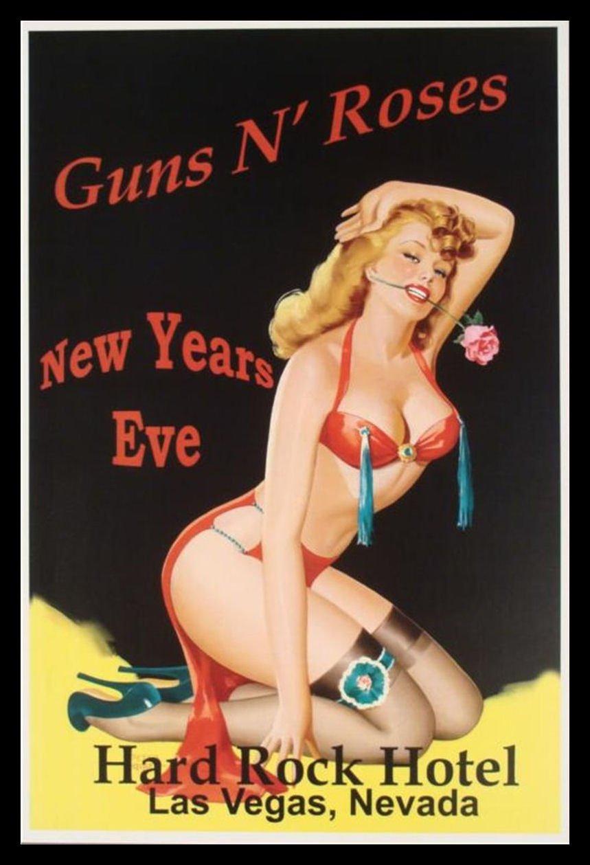 Guns N Roses Concert Poster Fridge Magnet Live in Las Vegas Canvas Print 2.5 x 3.5 gunsandroses23