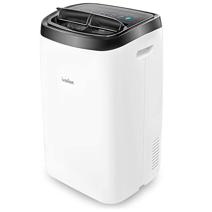 Ivation 14,000 BTU Portable Air Conditioner – Powerful AC Unit & Dehumidifier w/Remote Control, Adjustable Fan Speed, Window Kit, Digital LED Display & Multiple Operating Modes - 500 Sq/Ft Coverage