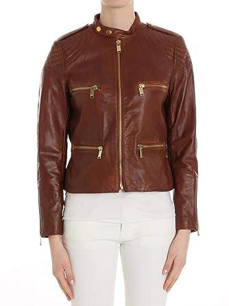57124e5fb1755a Michael Michael Kors Giacca in Pelle MH71ENV56V Cognac  Amazon.co.uk   Clothing