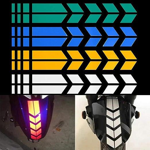 DIY Reflective Decals Tape Decor Stickers Motorcycle Arrow Waterproof Warning