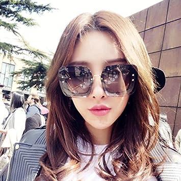 VVIIYJ Gafas de Sol cuadradas para Mujer Cara Redonda ...