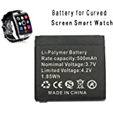 Smart watch battery Curved Screen or Q18 rechargable lithium battery with 500MAH capacity