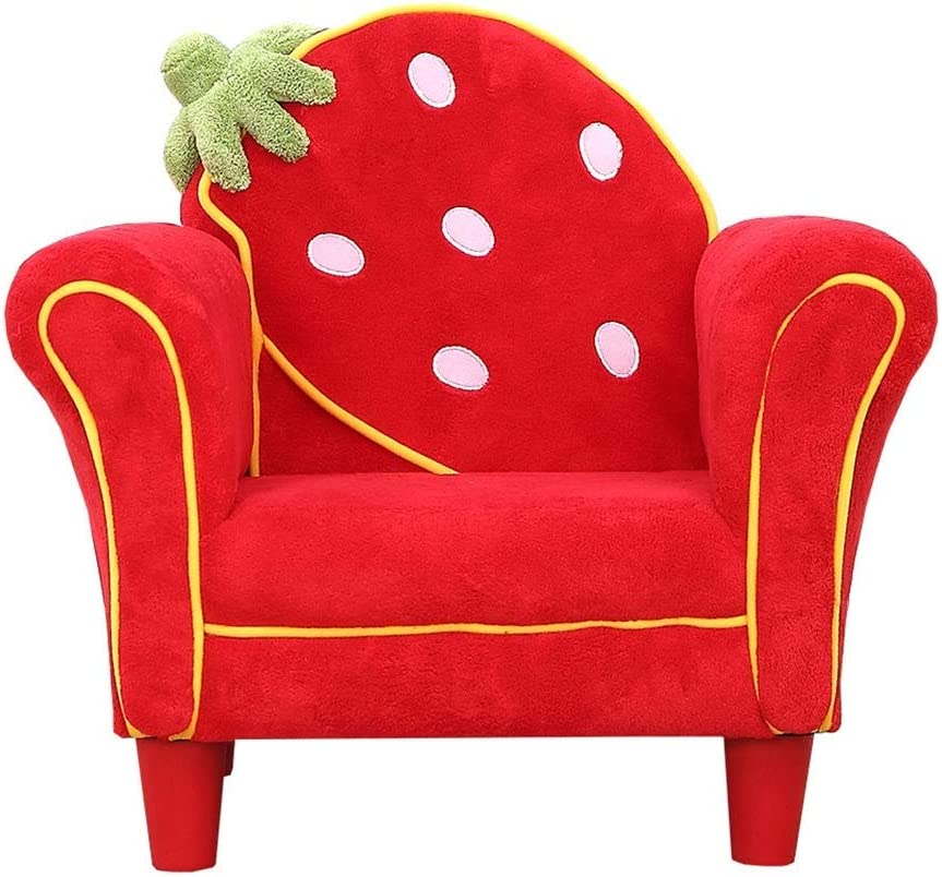 PXX Armchairs Kids Chair Girls Mini Sofa Kids Sofa Arm Chair - Dolls House Furniture Couch for Living Room Bedroom Reception,Red,58X44X52Cm