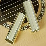 Lucky Direct Guitar Slider Orchestral Instrument Slide Stick 28-70mm Stainless Steel Guitar Slider Finger Knuckle String Slides Cylinder Tube - Silver 70mm