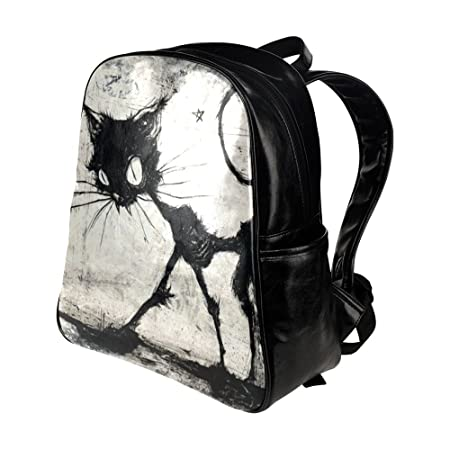 Amazon.com: Custom Tim Burton cat Multi-pocket Backpack School Travel Bag: Sports & Outdoors
