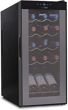 15 Bottle Wine Cooler Refrigerator White Red