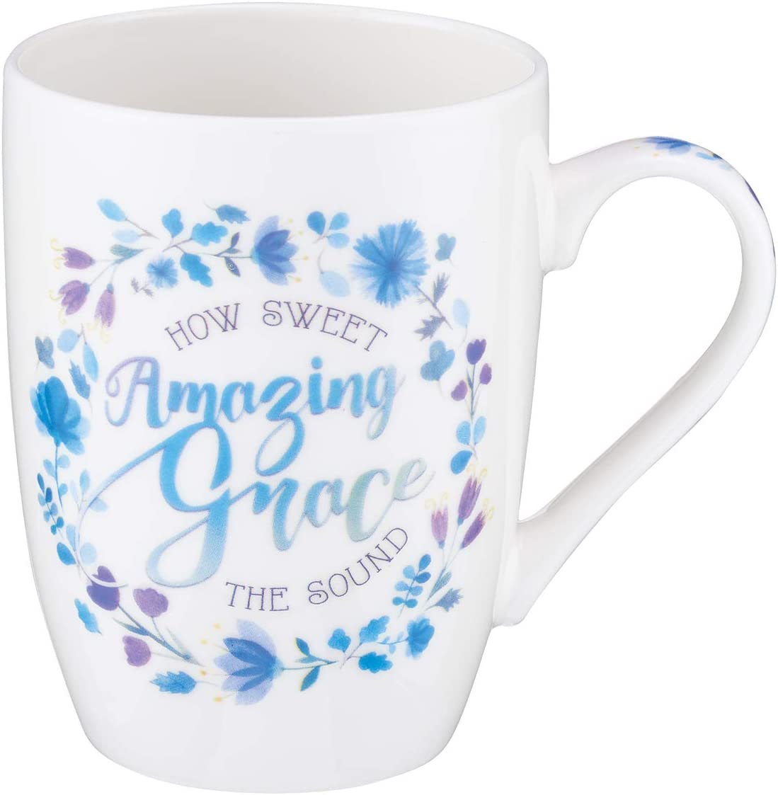 Amazing Grace Ceramic Christian Coffee Mug for Women and Men - Inspirational Coffee Cup and Christian Gifts (12-Ounce Ceramic Cup)