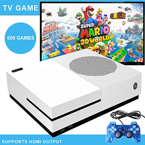 Ocamo HD TV Game Consoles Built-in 600 Retro Classic Games with 2 USB Joystick