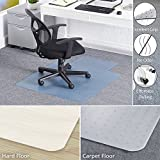 Office Chair Mat for Carpet,36'' X 48'' Heavy Duty Mat for Carpeted Floor Non Breakable Polycarbonate Floor Mats for Low, Standard and Medium Pile Carpets | with Lipped | Carpet Protector