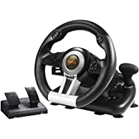 PC Racing Wheel, PXN V3II 180 Degree Universal Usb Car Sim Race Steering Wheel with Pedals for PS3, PS4, Xbox One,Nintendo Switch