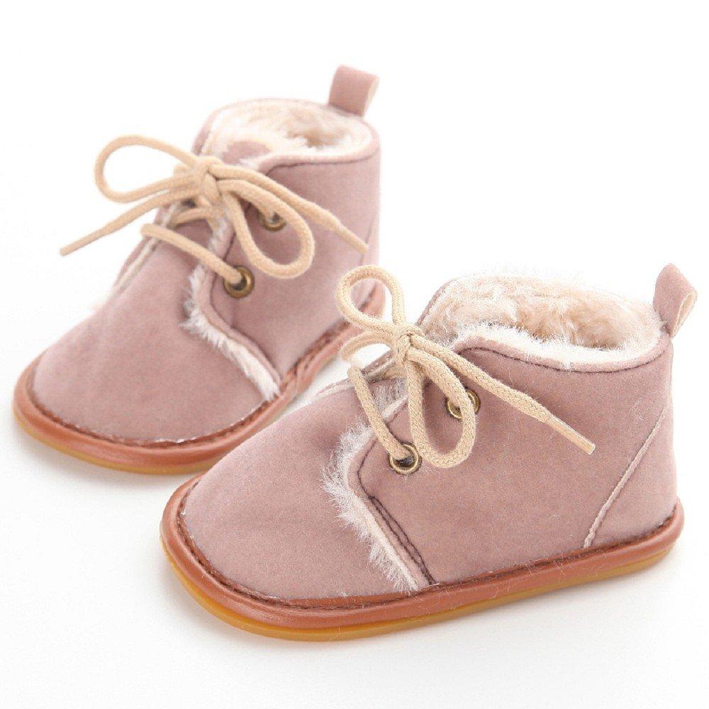 Beb/é ni/ño Infantil Nieve Botas Zapatos Suela de Goma Cuna Prewalker Zapatos de beb/é Auxma Zapatos de beb/é