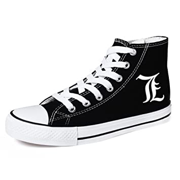 Death Note L Cosplay Shoes Canvas Shoes Sneakers Black
