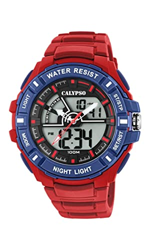 Calypso Watches Reloj Analógico-Digital para Hombre de Cuarzo con Correa en Plástico K5769/3: Amazon.es: Relojes