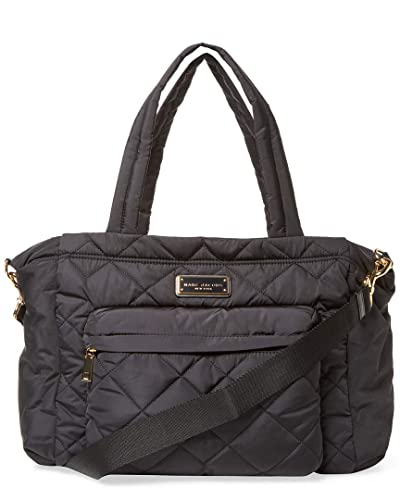 977287c34c2a Amazon.com  Marc by Marc Jacobs Crosby Nylon Quilted Diaper Bag (Black)   Shoes