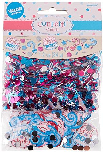 Gender Reveal Confetti (Amscan AMI 361573 Girl or Boy Confetti, One Size,)
