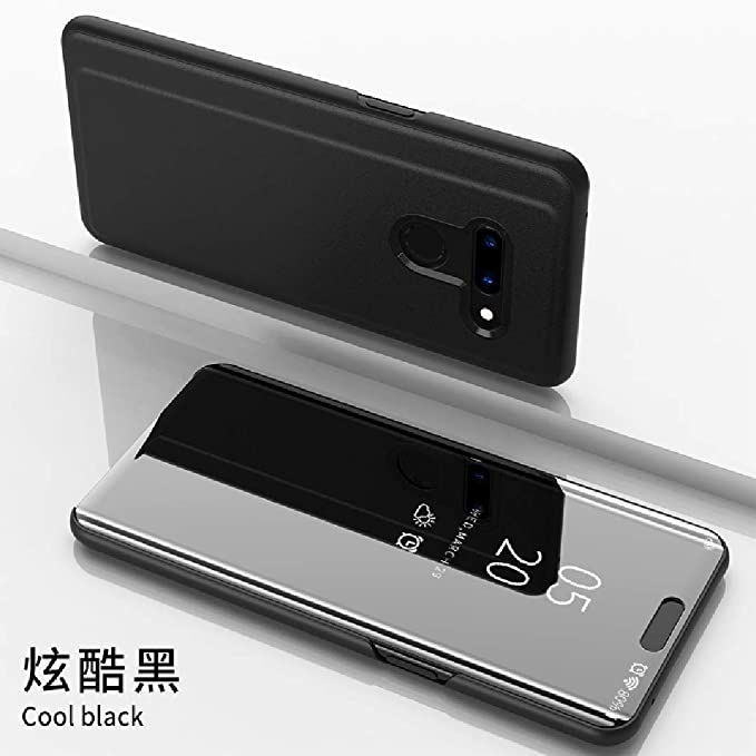LG G8 ThinQ Case, Translucent Window View Flip Wallet Stand Funda ...