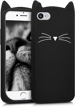 kwmobile FUNDA DE SILICONA Diseño gato para Apple iPhone 7 / 8 ...