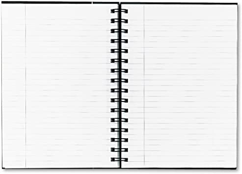 TOPS 25330 Exec Notebook,20lb,Wirebound,96 Shts,8-1//4-Inch x5-7//8-Inch,BK//GY