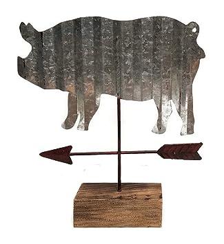Perfect Modern Farmhouse Pig Tabletop Weather Vane Figurine