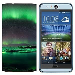 TECHCASE---Cubierta de la caja de protección para la piel dura ** HTC Desire Eye ( M910x ) ** --Aurora Borealis Antártida