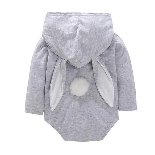 52ec86ecf Amazon.com  kaiCran Cute Baby Boys Girls Easter Bunny Long Sleeve ...