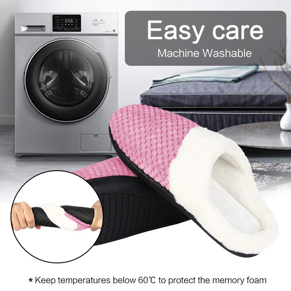 JOSIFER Mens /& Womens Memory Foam Slippers Fuzzy Plush Comfortable House Shoes