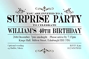 the save the date people 50 surprise party invitations personalised