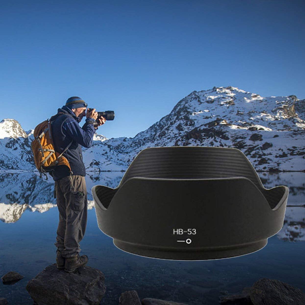 Detectorcatty Professional Lens Hood Replace HB-53 Petal Lens Hood for AF-S Nikkor 24-120mm f//4G ED VR Lens Shade Lens Hood Mount