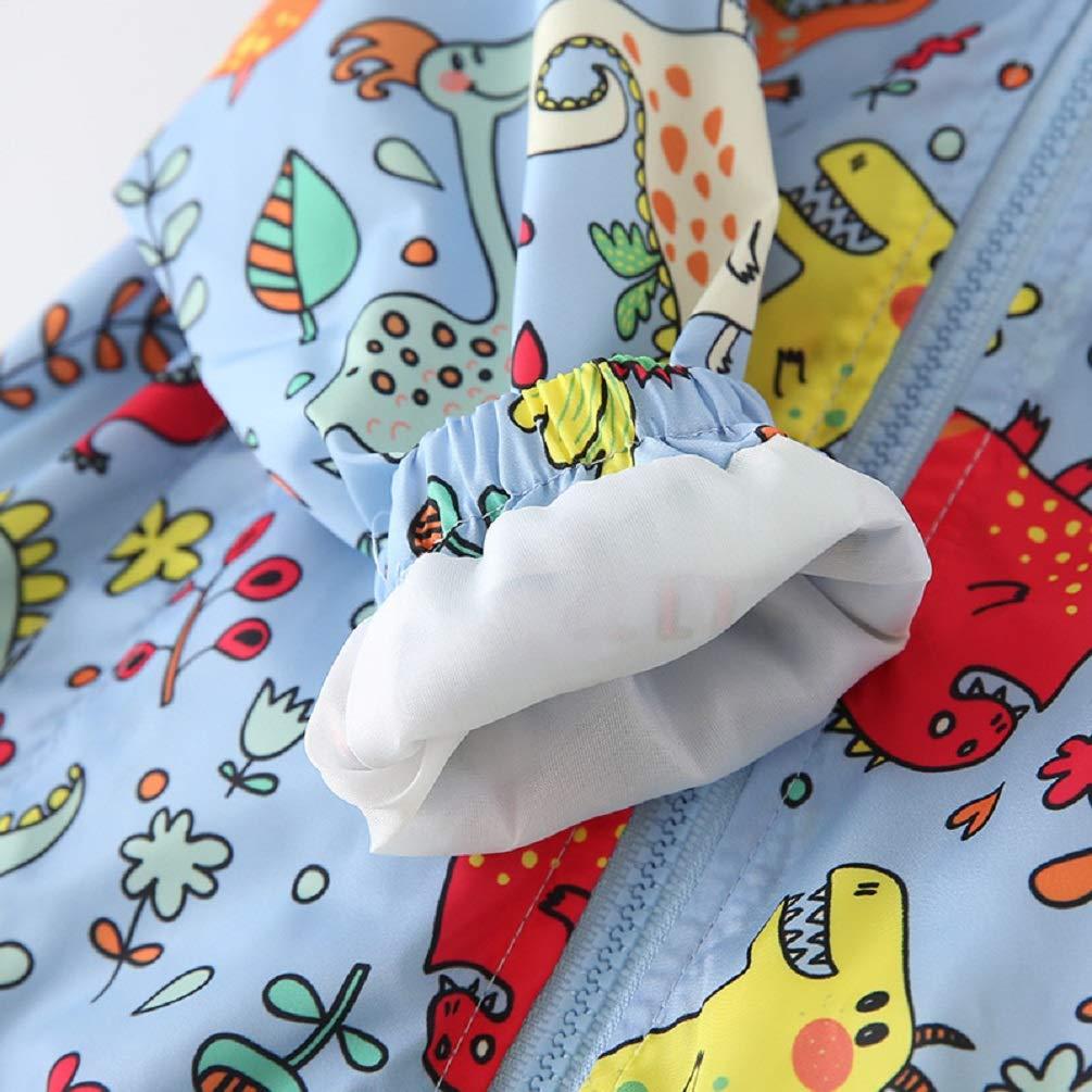Baby Fall Winter Animal Windbreak Cute Cartoon Dinosaur Jackets Hooded Zip up Coat Outwear Pullover Oufits Boys