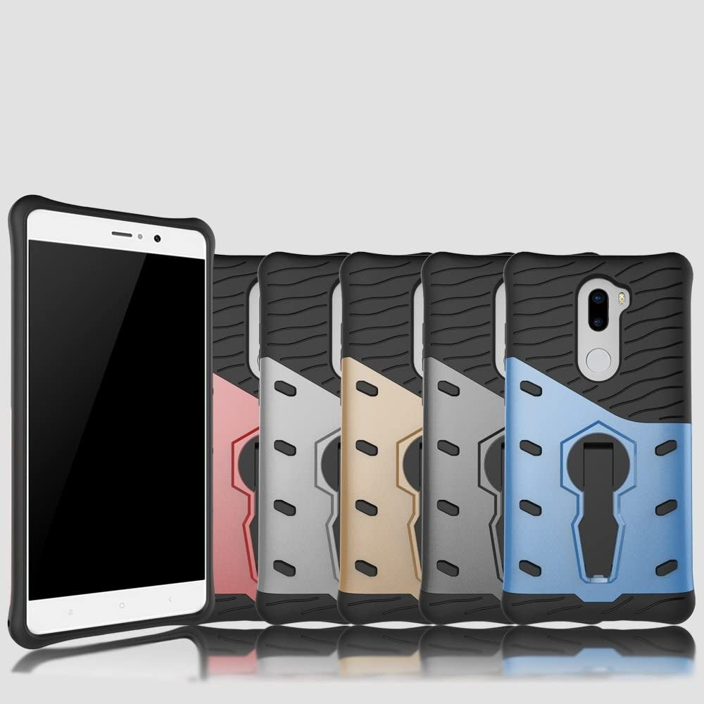 red Dual Layer Xiaomi 5s Plus Case,Heavy Duty Armor Hybrid Shock Proof Rugged Case Shell Cover Bummper for Xiaomi 5s Plus Case ArmorBox Kickstand