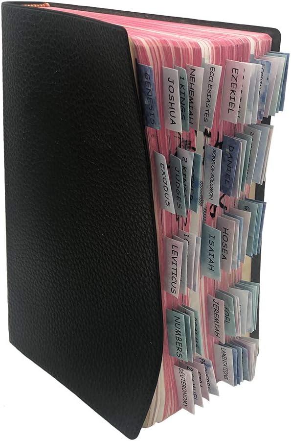 cartellini decorativi laminati per la Bibbia stampa grande Auony 80 linguette colorate 66 schede Bibbia e 14 linguette vuote per vecchi e nuovi testamenti facile da leggere