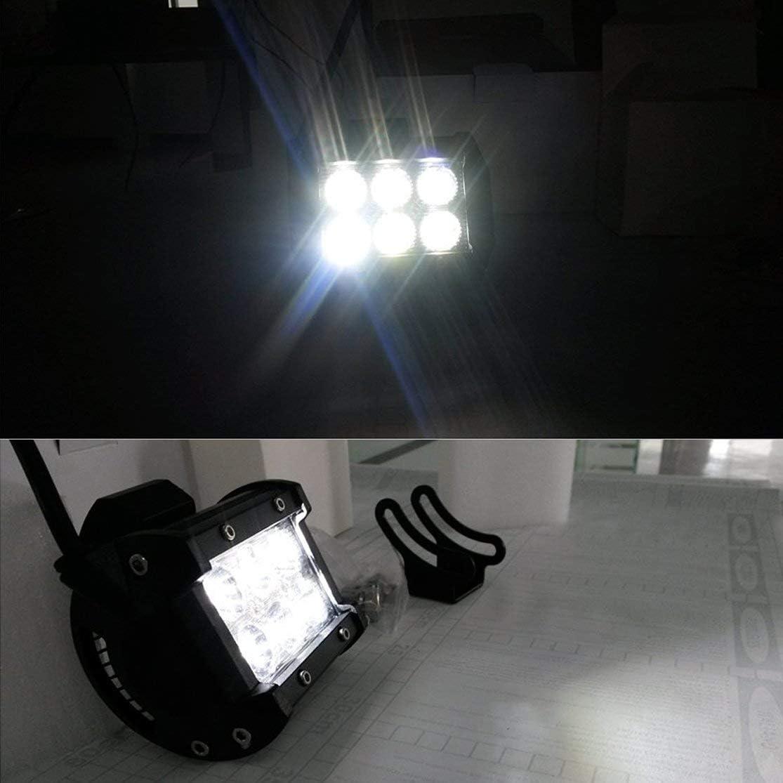 Candyboom 4 Pulgadas 18W LED de Trabajo luz de inundaci/ón Punto de luz Campo a trav/és de conducci/ón LED Barra de luz 12V 24V 4x4 cami/ón Motocicleta Barco Tractor Tractor Barra