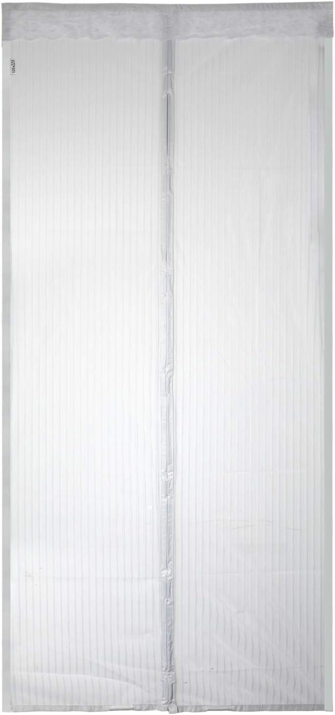 80 x 200cm EXTSUD Mosquitera Puertas Cortina Mosquitera Magn/ética para Puertas Protecci/ón contra Insectos para Puerta de Balc/ón Sala de Estar Puerta de Patio Blanco